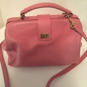Talbots Pink Women's Purse Satchel Cross Body Med